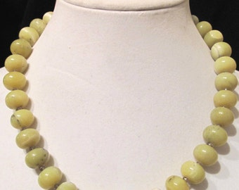 Beautiful Jade and Smoky Quartz Necklace and Earring Set!!!!!!