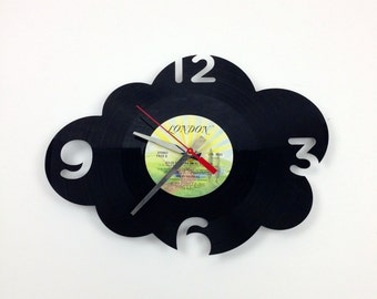 Clock RECORD ( vinyl ) - CLOUD ( with numbers ) -