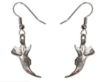 Jaw Bone Jewelry Mouse Bone Earrings White Bronze Jaw Earrings