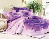 Bedding Flowers 4pc bedding set 3D luxury Duvet/Quilt/comforter cover king queen double bed size sheets Linen pillowcase sets