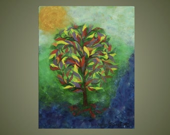 Original Painting: Tree in the Mist