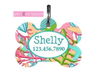 Beach Pet Tag Personalized, Pet Tag, Dog ID