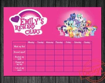 My little pony toilet training chart elmo