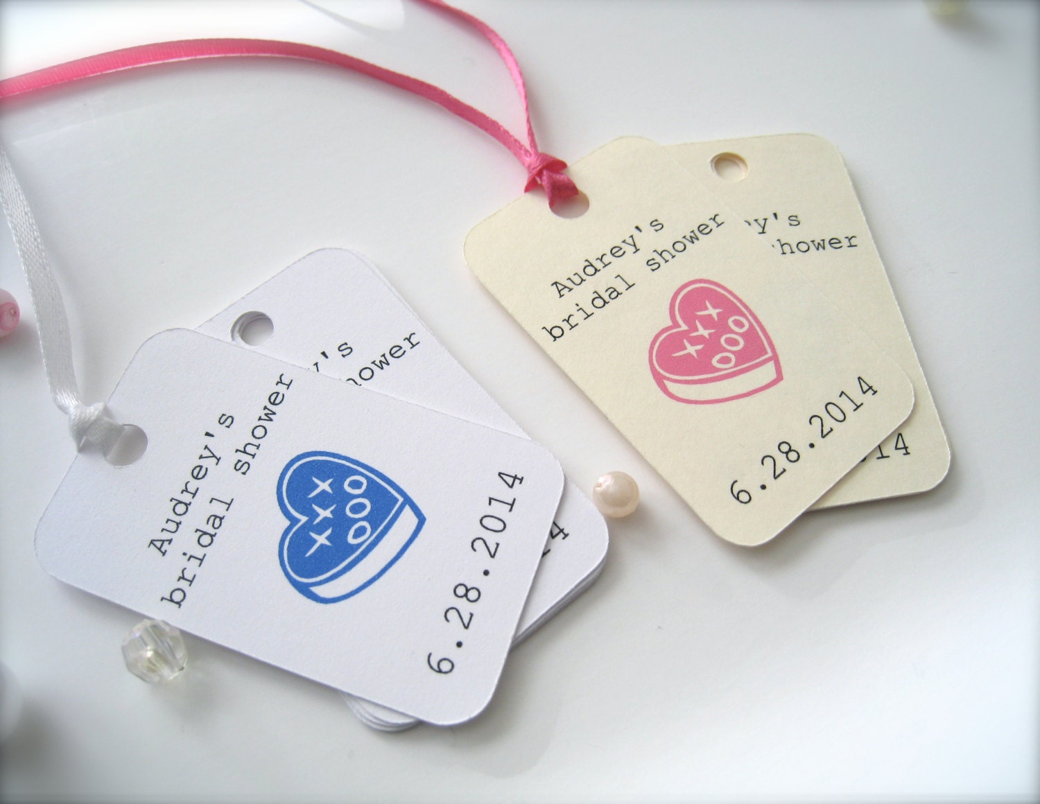 Small bridal shower favor tags personalized tags party favor for Personalized wedding shower favors