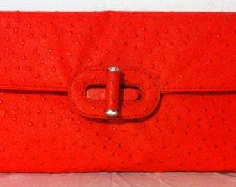 Red Avon Clutch