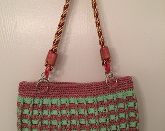 This is a Handmade Crochet Purse