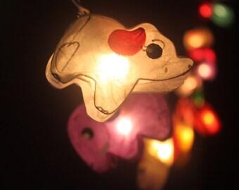 35 Pink Heart Valentine Paper Lantern String Lights for Home
