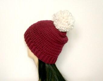 CROCHET HAT PATTERN, Bobble hat Pattern, Crochet Pattern, Bobble Hat, Hat Pattern, Crochet Hat, Instant Download - The Anthia Beanie