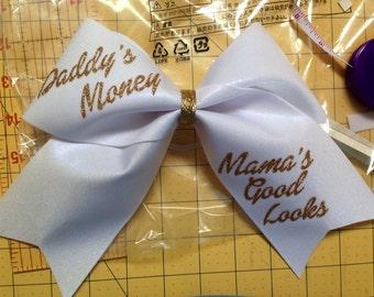 Daddy's Money Mamas Good Looks Cheer Bow