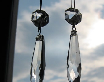 Something Old, Something New - crystal dangle earrings #21