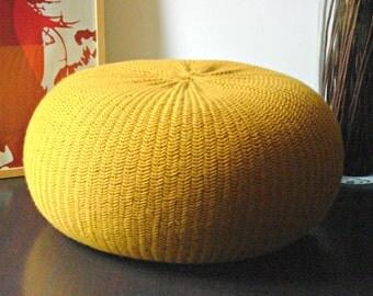 STUFFED XXL POUF 100% wool 20 colors, Poof, Ottoman, Footstool, Home Decor, Pillow, Bean Bag, Floor cushion pouf ottoman Pouffe