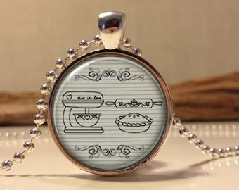 Baking necklace.  baking cooking art pendant jewelry