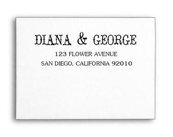 Custom Address Stamp, Calligraphy Stamp, Invitation Address Stamp, Wood Handle or Self Inking