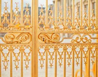 Versailles Palace Photography, Marie Antoinette Art, Gold Gate Versailles, France Travel Photography, 8x10 Photo Print