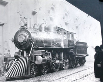 Original Black and White Train Photograph by Neal Miller 1955