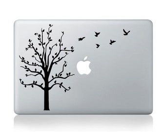 Laptop decal – Laptop Sticker – Macbook Pro decal – Macbook Air decal – Car window – Hipster - Tree in the wind