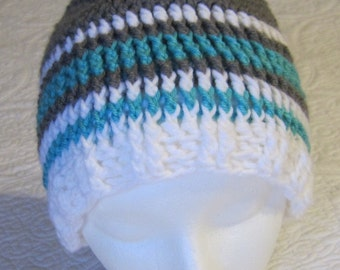 Crochet Beanie Best Friends Beanie (Pattern by Snappy Tots) Adult/Teen Size !!!For The Next Month All Hats Are On Sale For 12.00 Yeah!!!