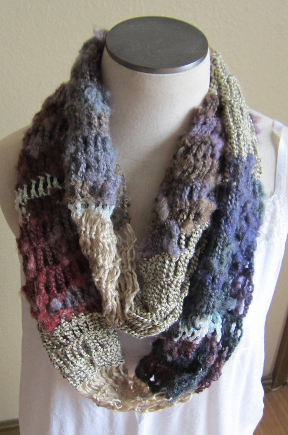 Isis Infinity Scarf Free Crochet Pattern From Red Heart Yarns : Crochet CowlInfinity ScarfHooded Scarf Boho CowlBoho