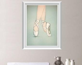 Ballerina Ballet Pointe Shoes Single Print Home Decor