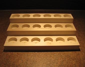 Essential Oils Wooden Display