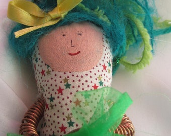 Wise Woman Doll (Green skirted Bow Lady)