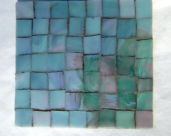 SINGLE: Gray Iridescent Stained Glass Coasters.