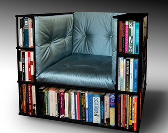Library Chair Luxury Club Chair Bookcase Chair Made To - Bookchair combined with bookshelf