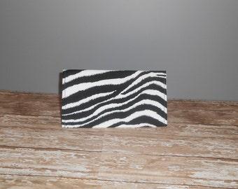 Checkbook Cover - Zebra Print