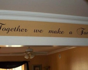 Family wall decal Together Family wall decal quote vinyl lettering words DIY