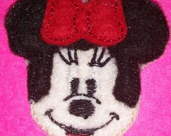 Set of 4 Girl Minnie Mouse Feltie Felt Embellishment Bow! Birthday Party Oversized Oversize Extra Large