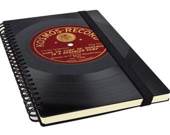 Vinyl Journal - Spiral Journal | Vinyl Spiral Notebook | Unique Journal | Music Gift