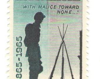 10 Unused 1965 Appomatiox - Vintage Postage Stamps Number 1182