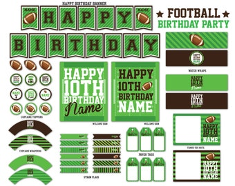 Football Party Printables Package - PFD File