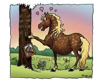 """Postcard """"Mare in love"""""""