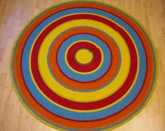 Round rug, 61'' (156 cm)/Rugs/Rug/Area Rugs/Floor Rugs/Large Rugs/Handmade Rug/Carpet/Wool Rug