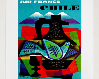 Chile Travel Print Poster Wall Art (XR141)