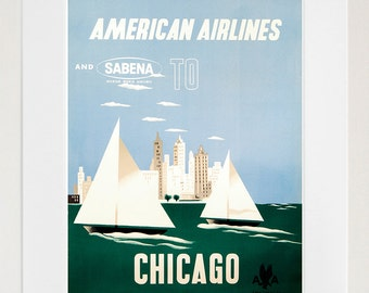 Chicago Travel Art Sign Wall Decor Poster Print (XR289)