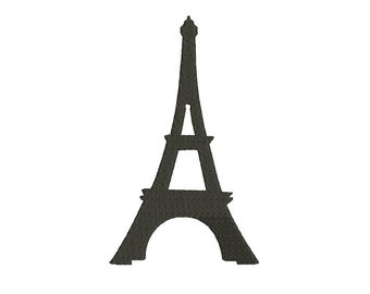 Eiffel tower Paris Filled Machine Embroidery Digitized Pattern- Instant Download - 4x4 ,5x7,6x10 -hoops