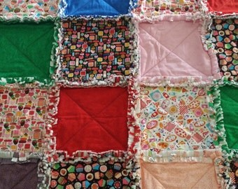 Kids- Shaggy Quilt for Children (Cot Throw)-  Made In Australia