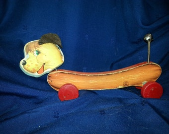 1958 Rare Mills Bell Hot Dog Pull-Toy