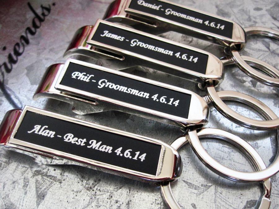 wedding party favor bottle opener groomsmen bottle opener. Black Bedroom Furniture Sets. Home Design Ideas