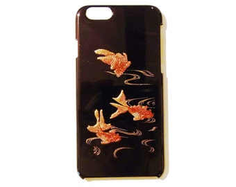 Japanese traditional lacquer designs iPhone case.  <iPhone6> goldfish