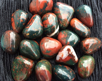 Tumbled Bloodstone, AAA Quality, Full Moon Charged, Chakra, Reiki, Crystal Grid, Pagan Altar, Wicca, Magic Spellwork, Meditation!