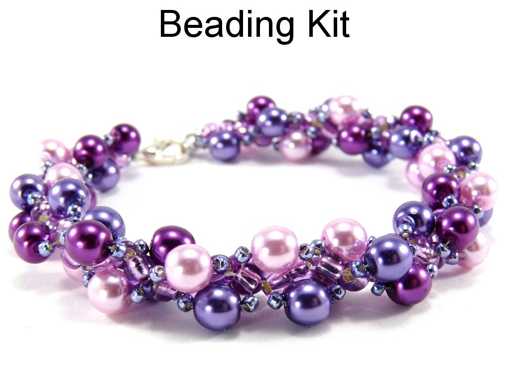 beaded pearl bracelet beading kit jewelry by