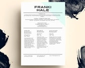 THE FRANKI HALE • resume + cover letter package • microsoft word  •  free 2nd page!