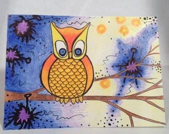 Hand Drawn Greeting Card- Blank Inside