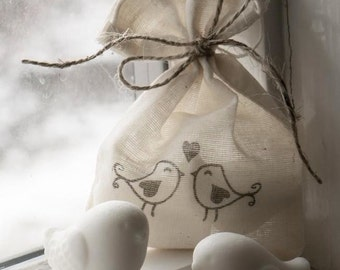 Love Bird Glycerin Soap - Wedding Favor