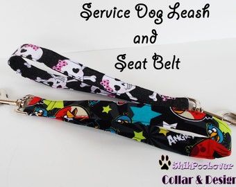 Special Service Dog Leash and Doggy Seat Belt