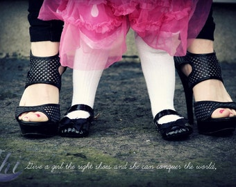 Beauty, Fashion, Shoes, Mother & Daughter, Women Photography. 8x12 Print