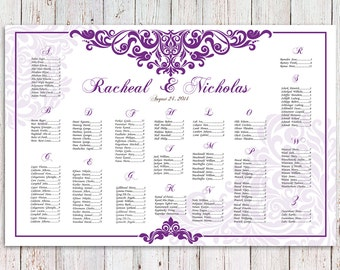Free Wedding Reception Seating Chart Poster Template .  Free Seating Chart Template For Wedding Reception